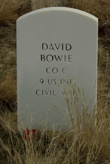 Headstone Of Civil War Veteran David Bowie Boise Barracks