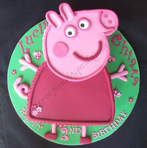 Peppa Pig Cake Www Creationsbypaulajane Co Uk Special