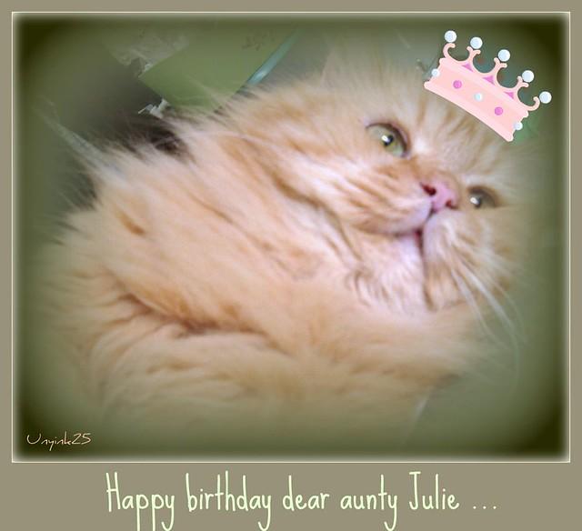 Unyink Happy Birthday Aunty Julie Many Happy Returns
