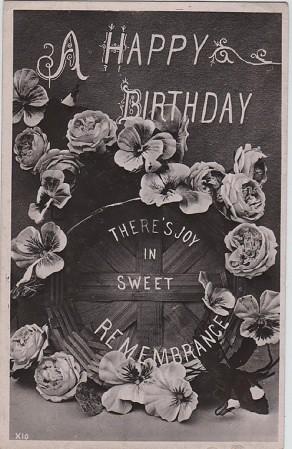 A Happy Birthday Vintage Postcard C 1908 Vintage