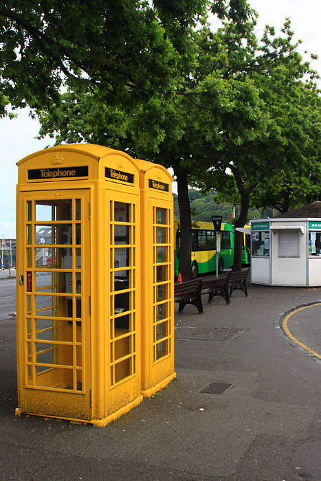 Yellow Phone Box Phone Boxes On The Island Of Guernsey