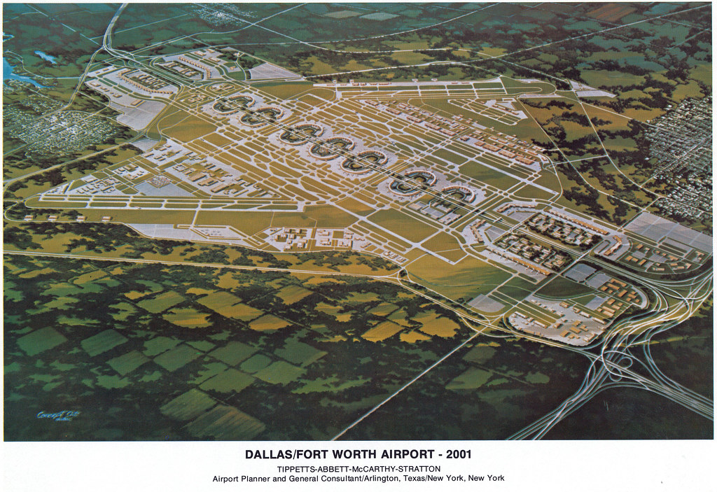 DFW Airport In 2001 1973 Illustration Of DFW Airports