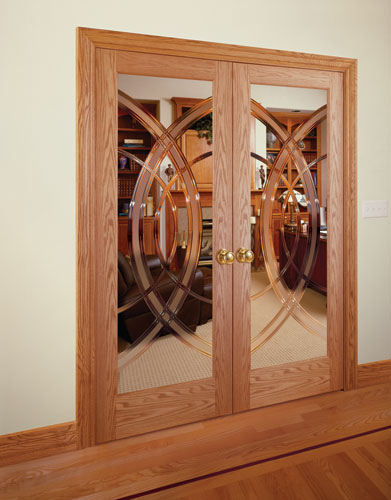 Feather River Door Wood Interior Doors Cosmo Grooved Red