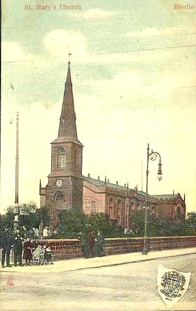 Liverpool 1910s Postcard St Marys Church Bootle Flickr