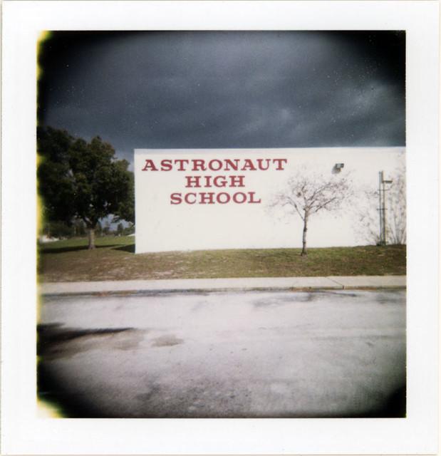 Astronaut High School Titusville Florida Usa Holgaroid