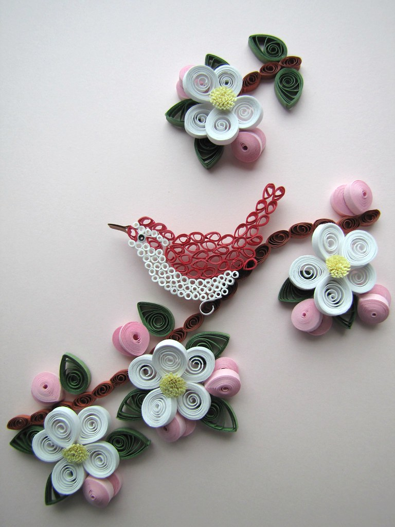 Bird And Apple Blossoms Designed By Guy And Lura