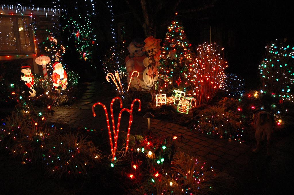 Various Christmas Decorations, Candy Canes, Santa, Snowman