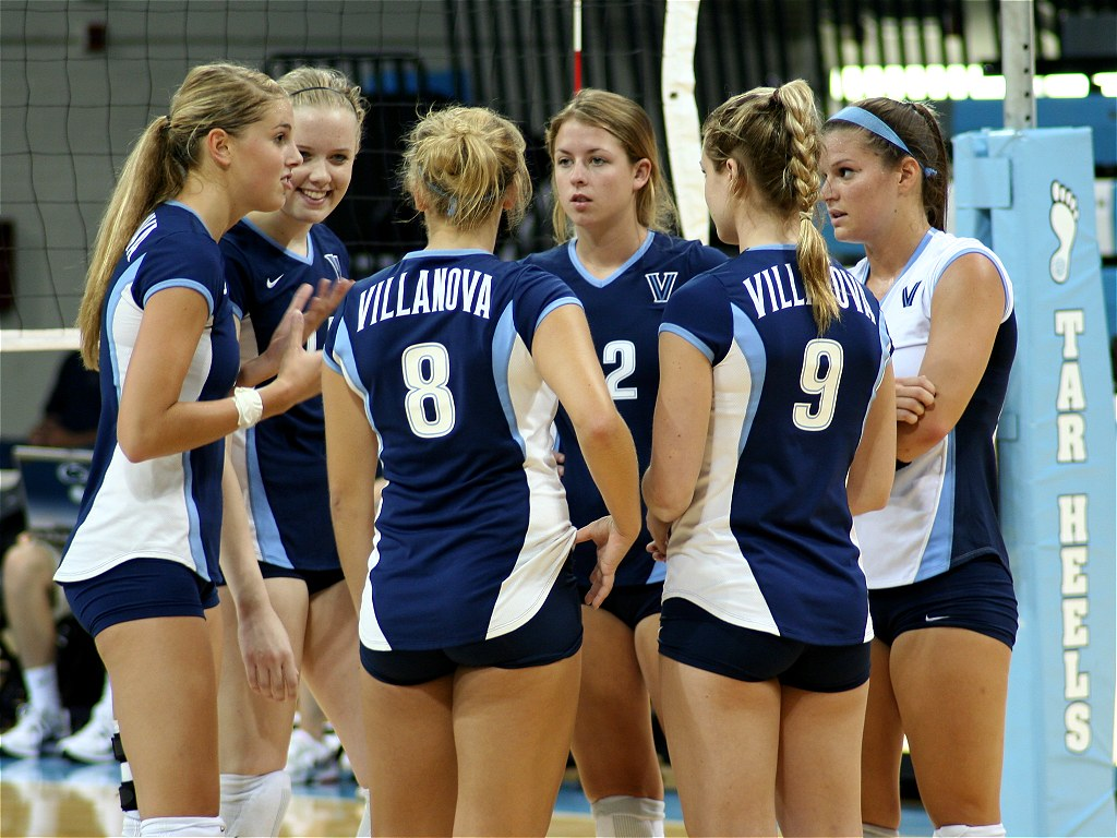 Colleges Girl Volleyball Spandex Mooning-9636