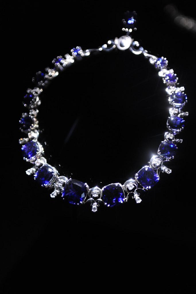 Tanzanite Amp White Sapphire Necklace By Ernesto Moreira
