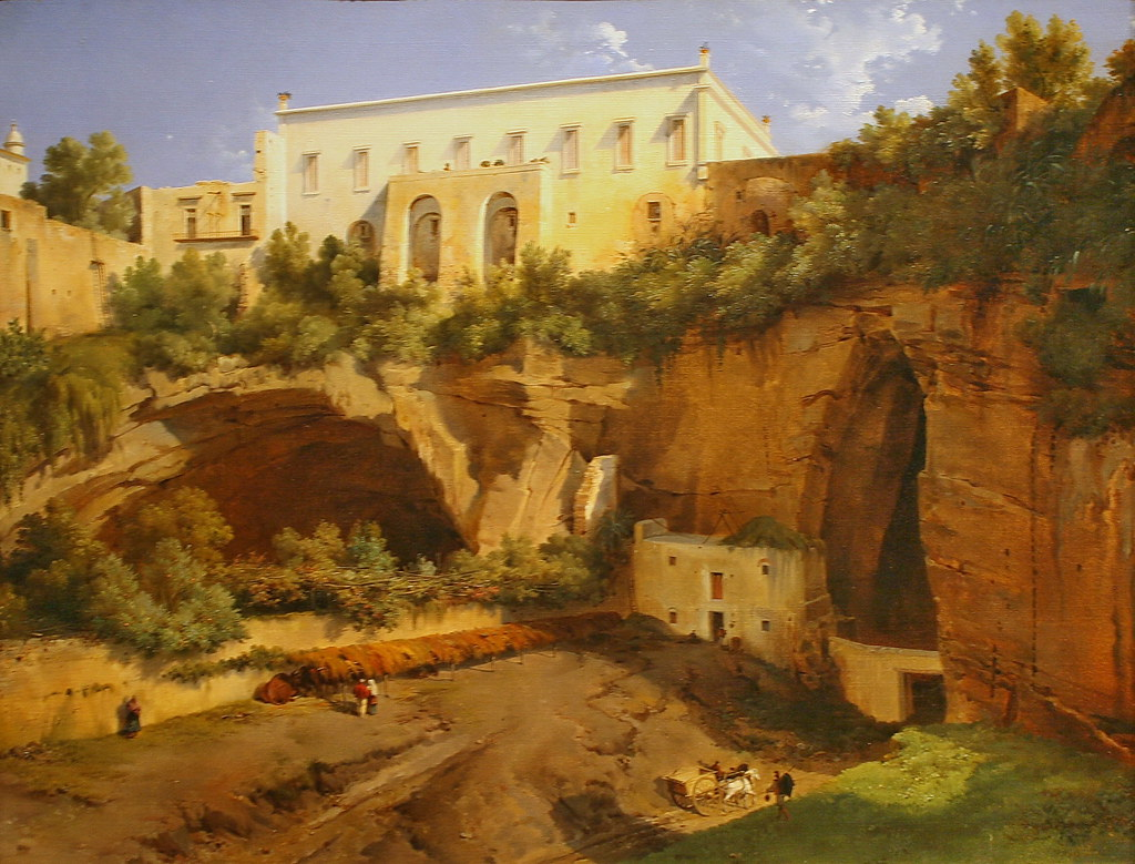 View Of A Villa Pizzofalcone Naples By Lancelot Thodore