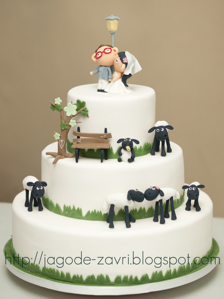 Shaun The Sheep Wedding Cake Matejad Flickr