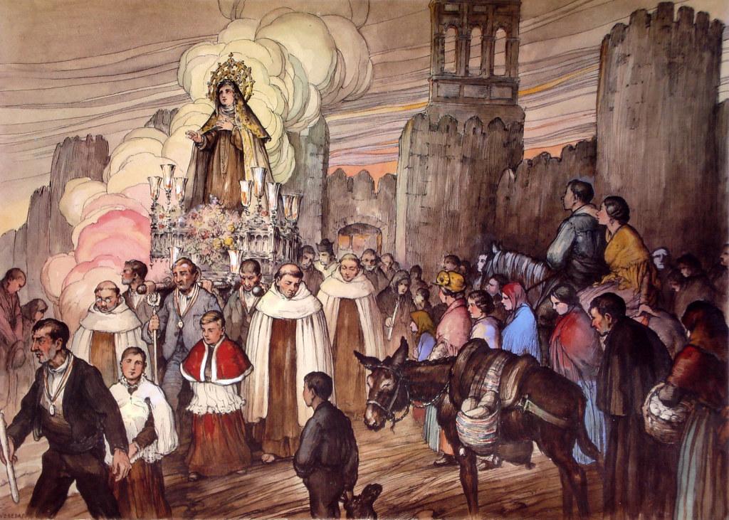 Vila Procesin De Santa Teresa En El La Puerta Del Carme