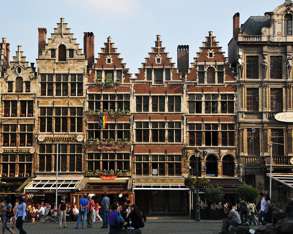 Belgian Architecture Anterwerp city center in Belgium