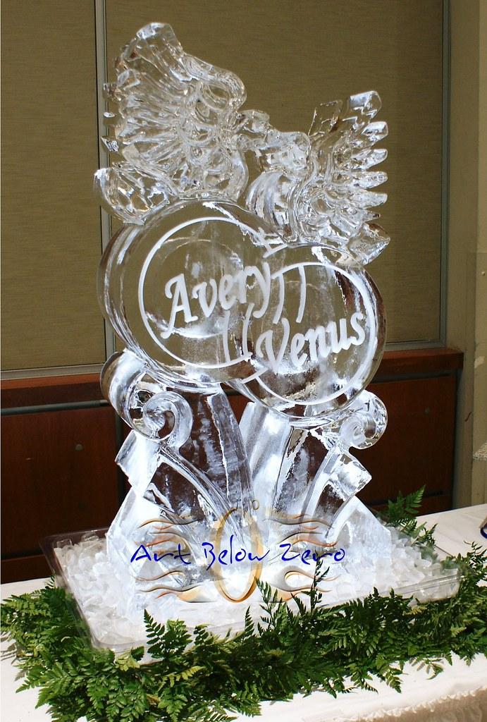 Ice Sculpture Doves On Rings Wwwartbelowzeronet Ice