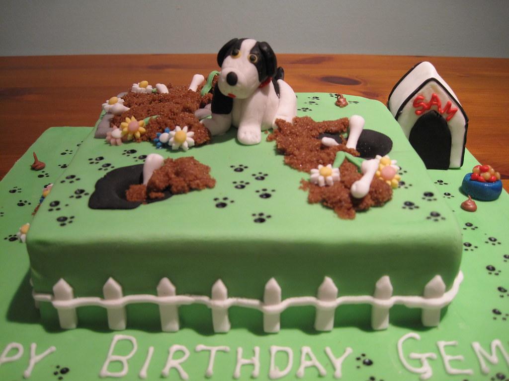 Naughty Puppy Birthday Cake
