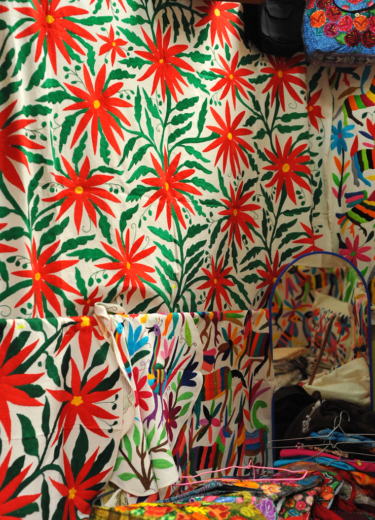 Otomi Textiles Mexico The Large Embroidered Cloth As