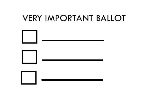 Blank Voting Ballot Template