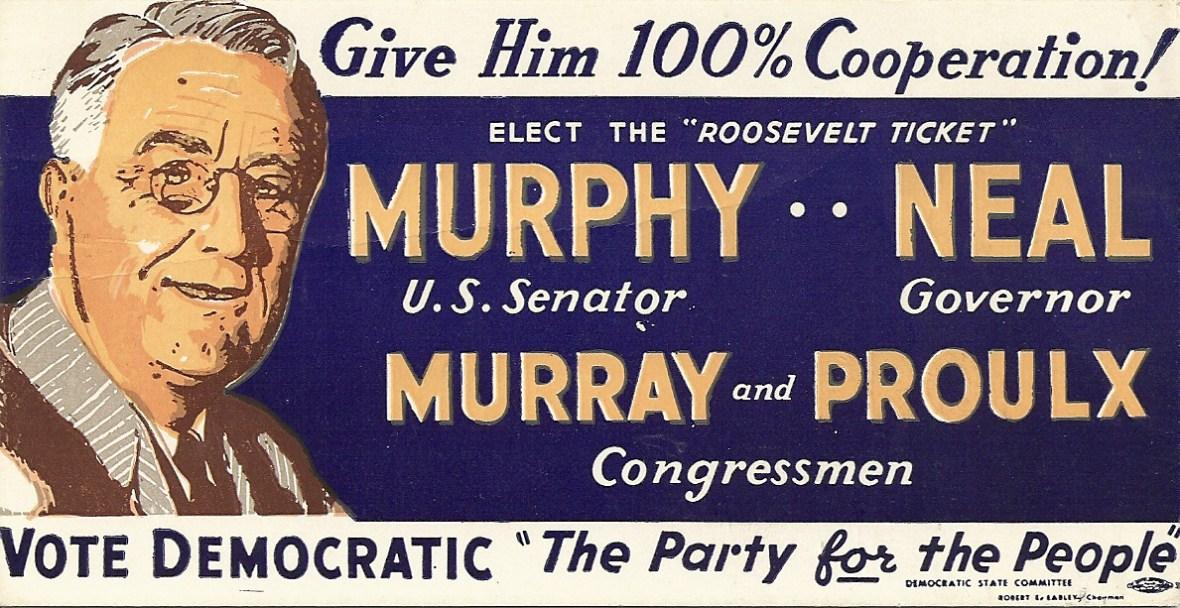 New Hampshire Democratic Party campaign postcard - 1942