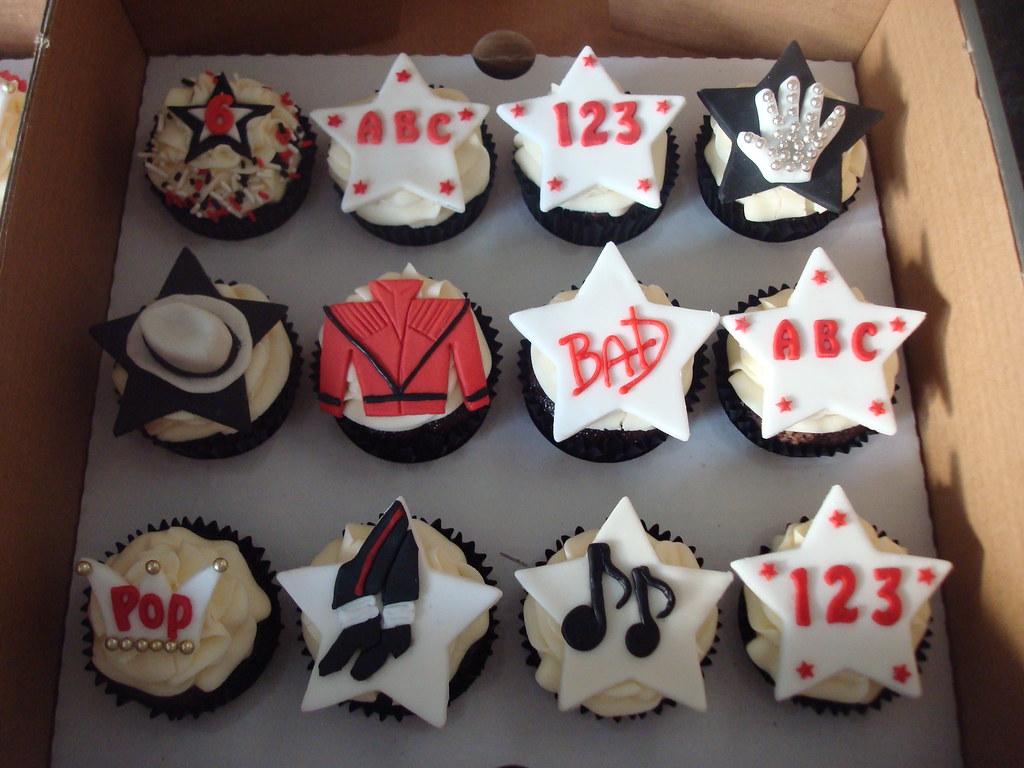 Michael Jackson Themed Cupcakes Selection Of Chocolate