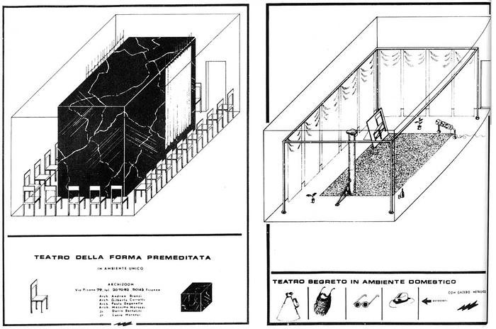 Archizoom Associati Teatro Impossibile 1968 KAM