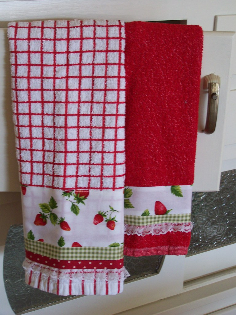 Strawberry Towel Set For Kitchen Decor A Strawberry