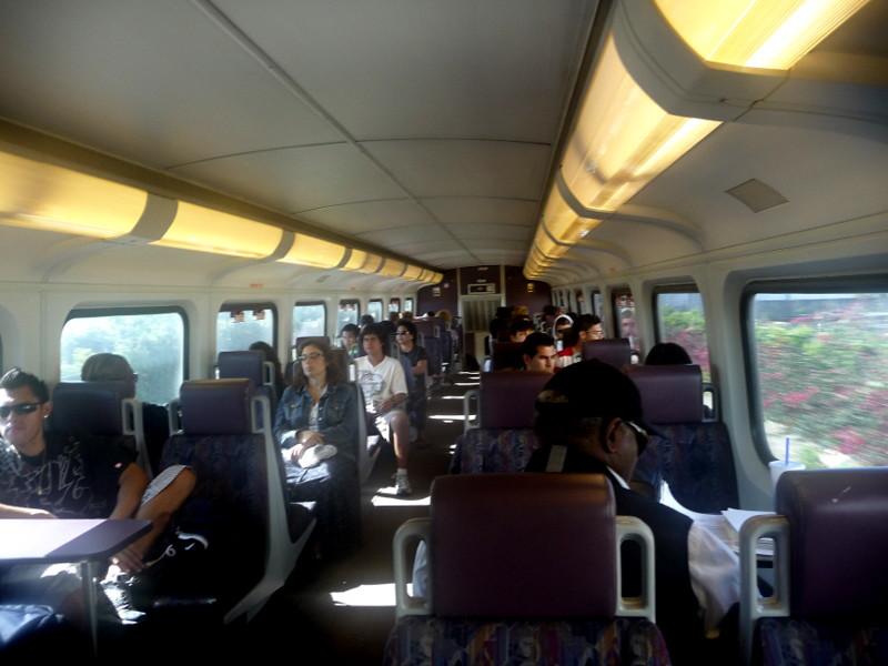 Typical Interior View Metrolink Train Car Upper Level