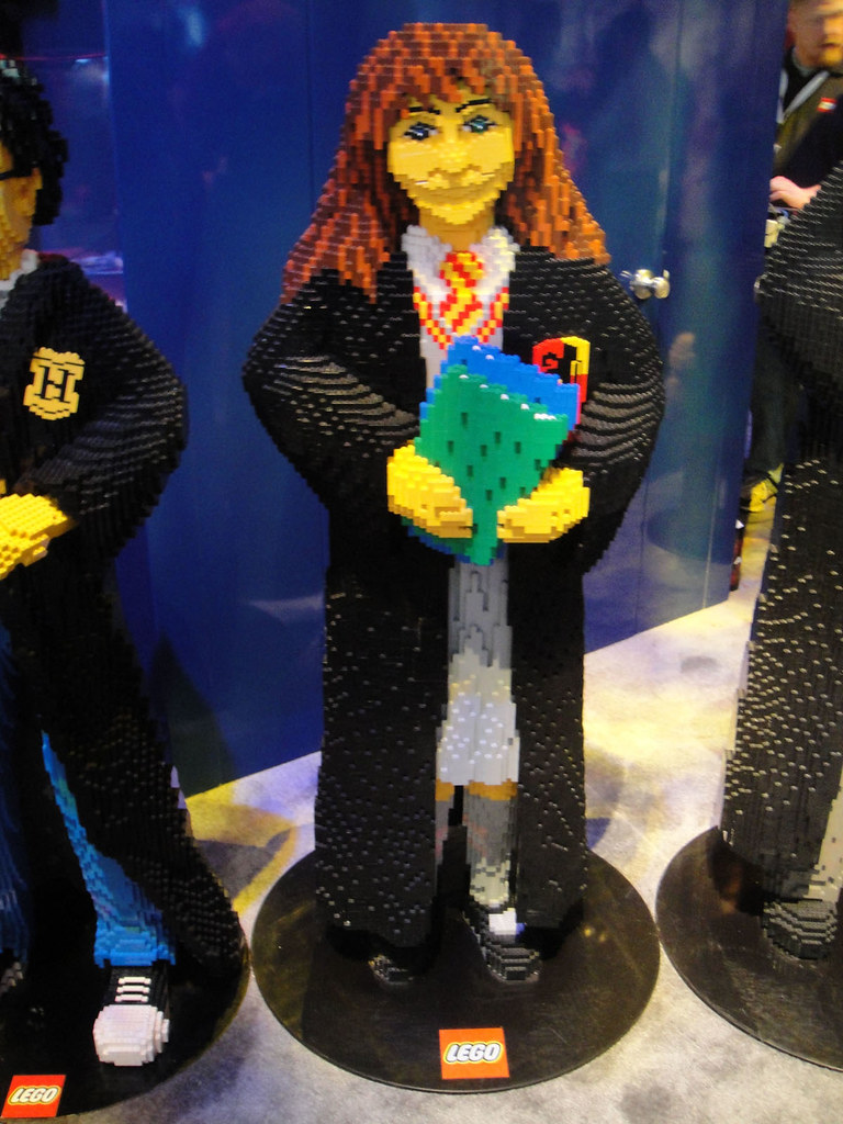 E3 2010 LEGO Harry Potter Booth Life Sized LEGO Hermione Flickr