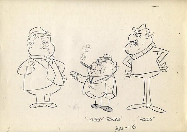 Vintage LAUREL Amp HARDY Animation Drawing 1967 HANNA HBS