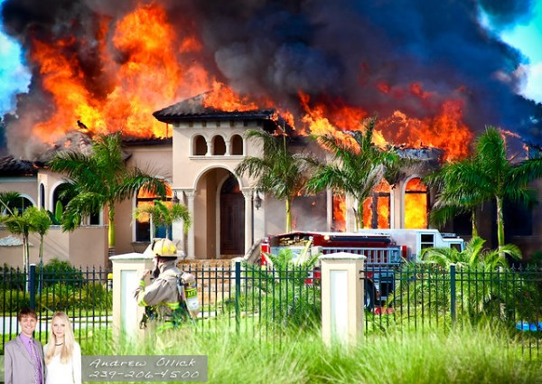 Golden Gate Estates Luxury Home on Fire | Flickr - Photo ...