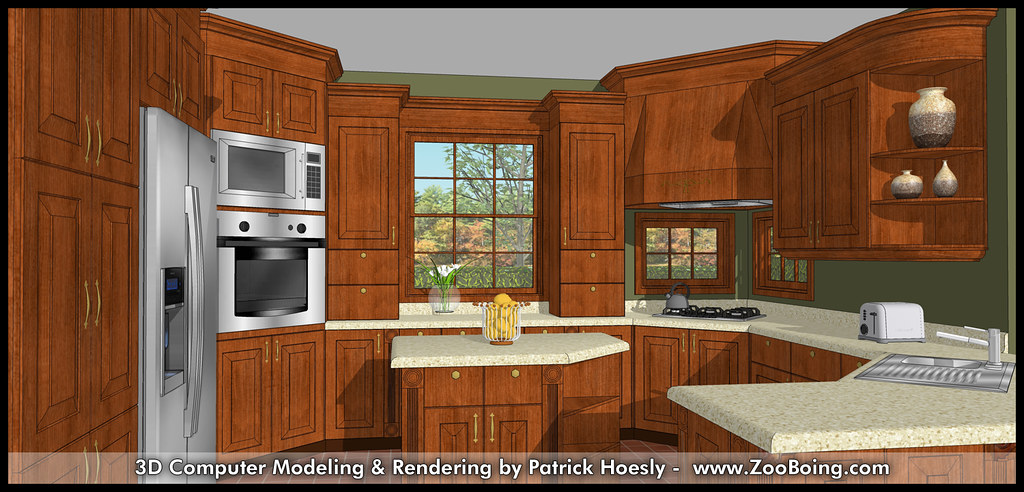 3d Computer Rendering Kitchen Sketchup Rendering Flickr
