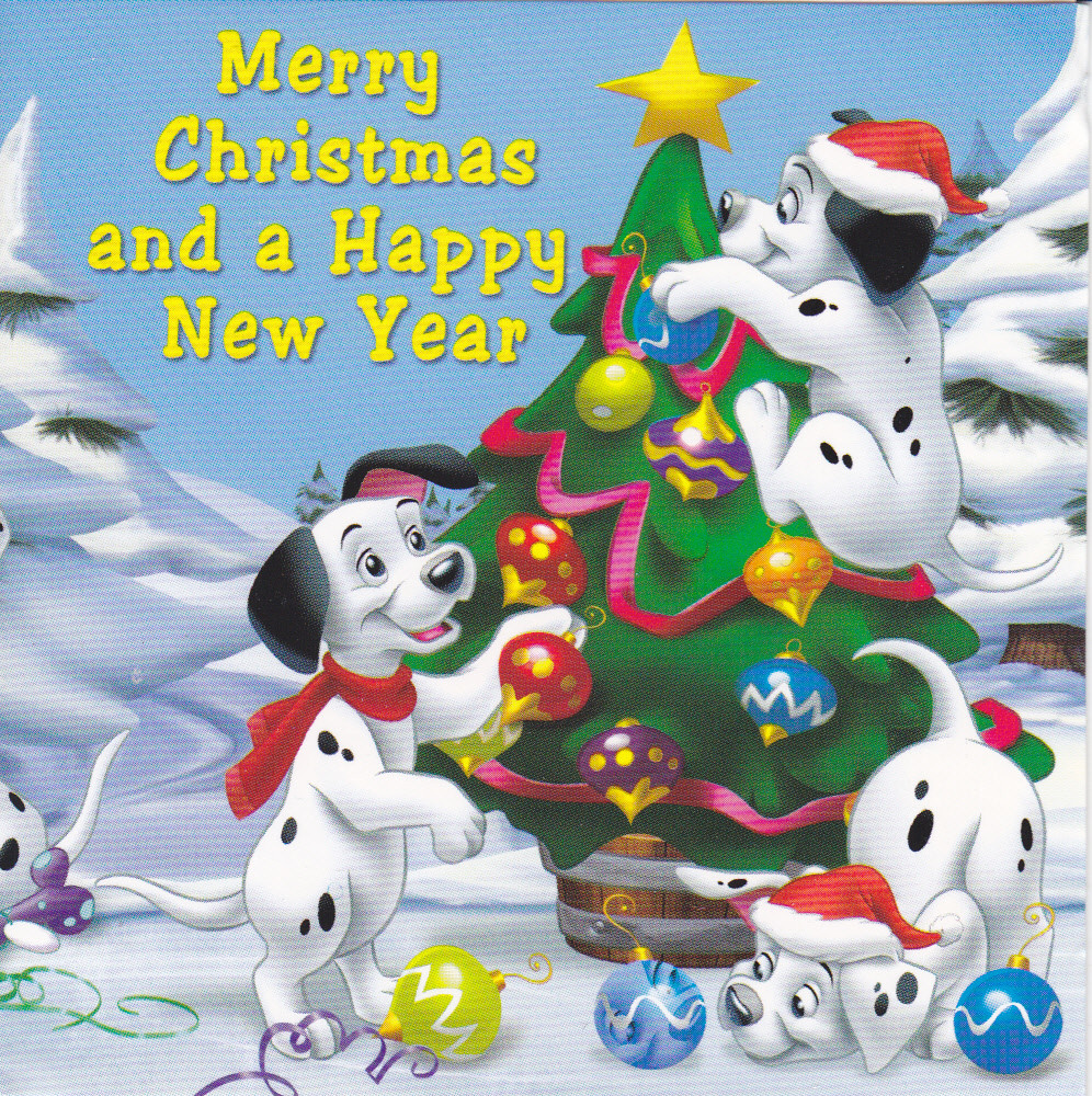 101 Dalmations Christmas Card 2010 Christmas Card RR 44