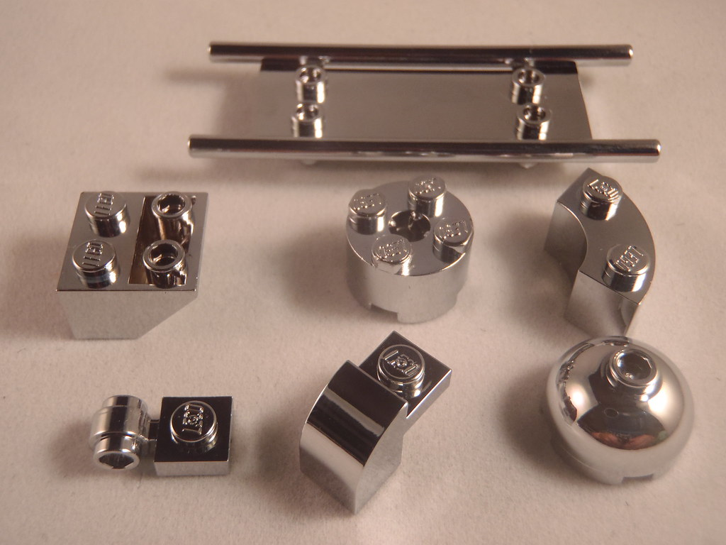 Chrome lego parts   Lego parts with real metal chrome   Erik Hammers         Chrome lego parts   by bricks4all chrome