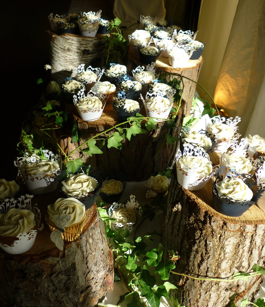 Ivy Woodland Style Wedding Cupcake Display This Is