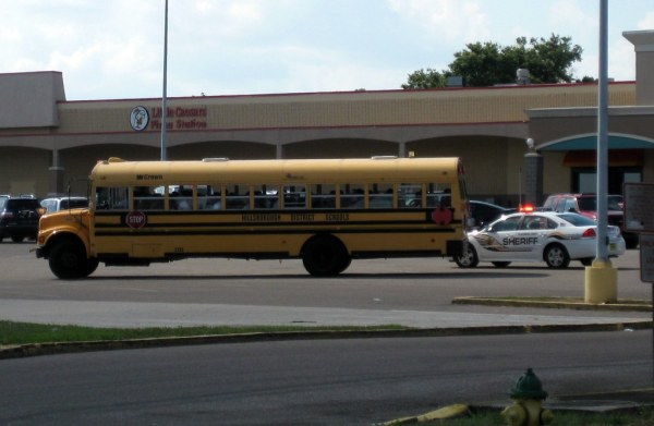 Yep, that school bus got pulled over. | I was sitting in ...