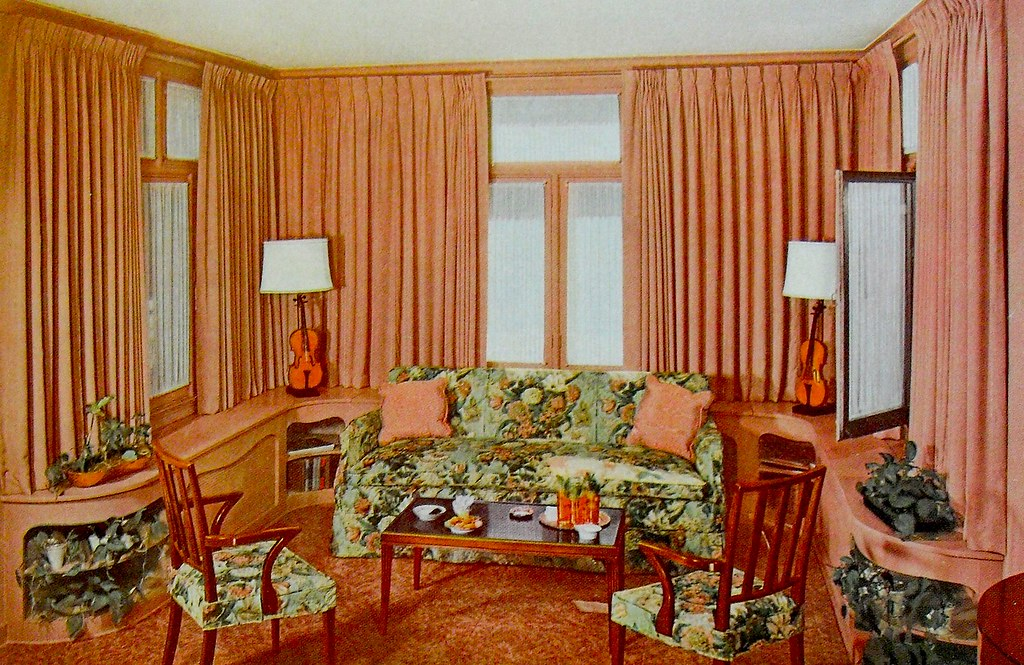 1948 Interior Decorating Book Photo Living Room