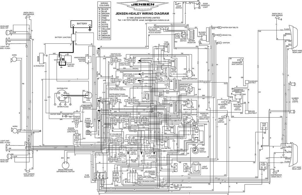 jensen healey electrical diagrams