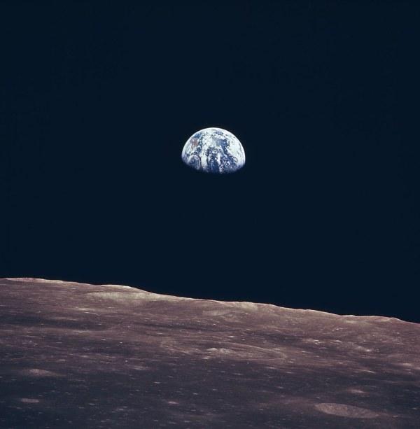 Earth Rise as Seen From Lunar Surface   Full Description ...