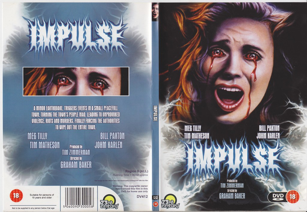 Impulse 1984 Dvd Cover Video Cover Of The Day 24th