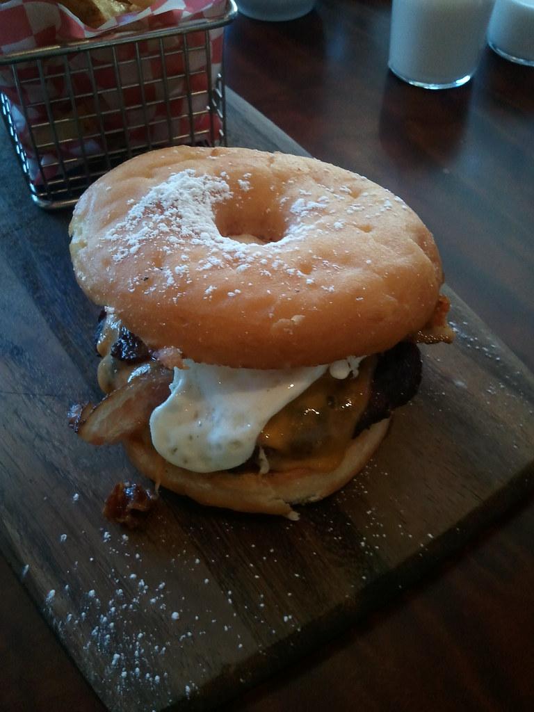 Brunch burger (served on donut)