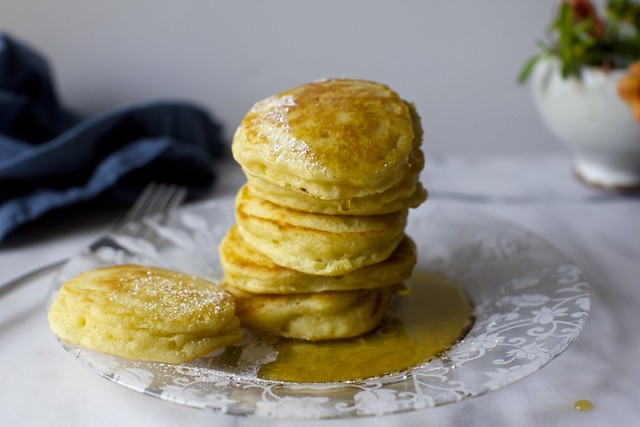 tall fluffy buttermilk pancakes
