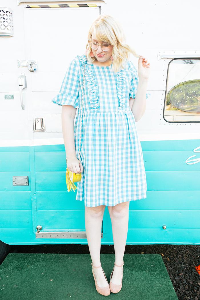 austin fashion blogger writes like a girl gingham asos dress5