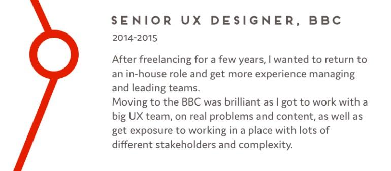 Senior UX Designer, BBC