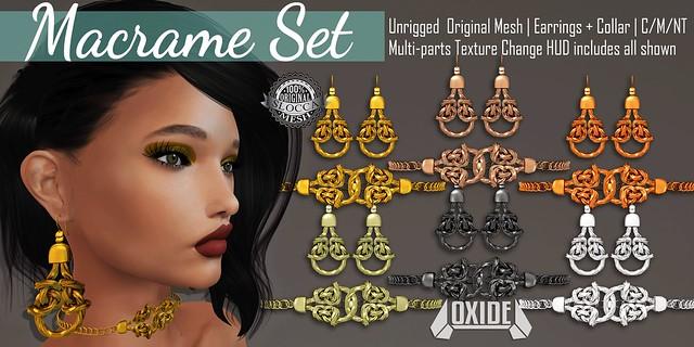 OXIDE Macrame Set for Sanarae ♥