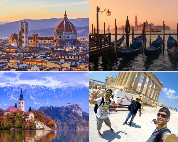 Itinerario de 21 días por Europa de Barcelona a Atenas
