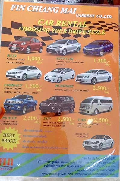 Rent Car Chiang Mai FIN