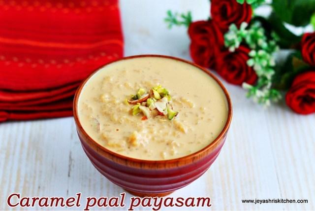 Caramel paal- payasam