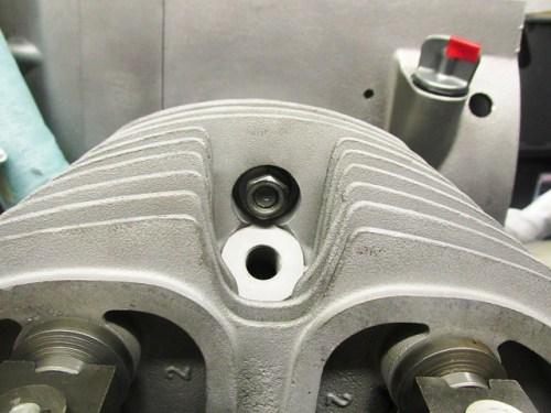 Nut On Short Cylinder Stud at 12:00 position