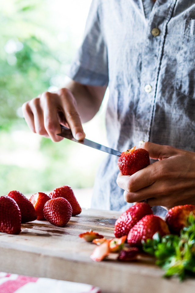 small knives work best to hull strawberries