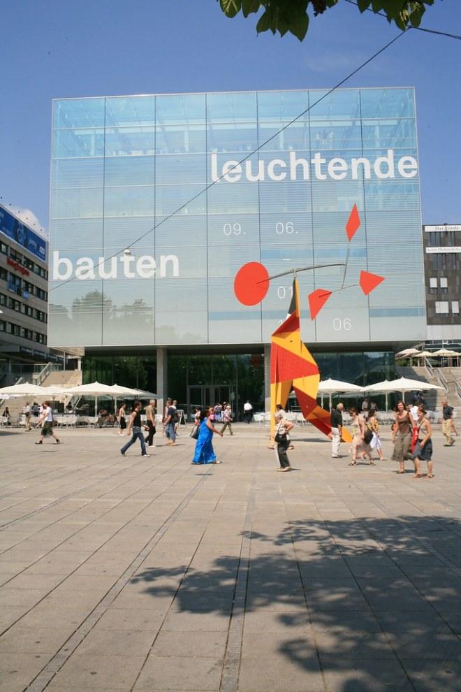 Stuttgart city center Kunstmuseum