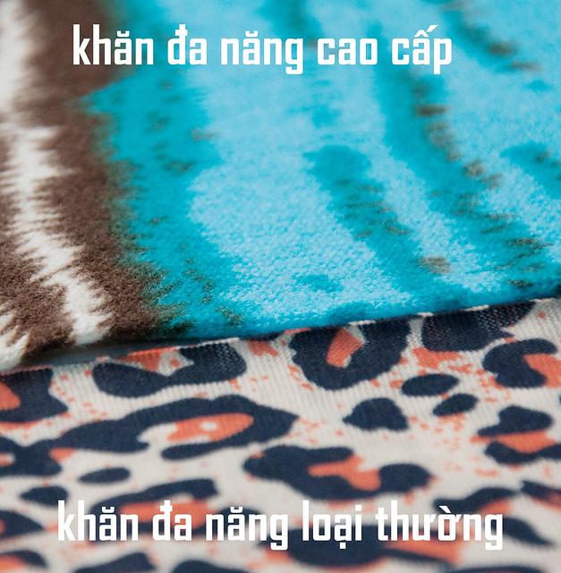 phân biệt khăn đa năng loại thường và loại dày
